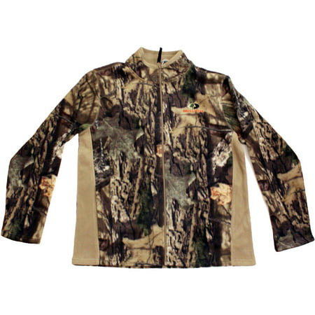Mossy Oak Men's Fleece Camo Full Zip Jacket, MO Breakup Country