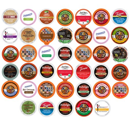Winter And Seasonal Flavored Coffee  Tea  Hot Cocoa And Cider Single Serve Cups For Keurig K Cup Brewers  40 Count