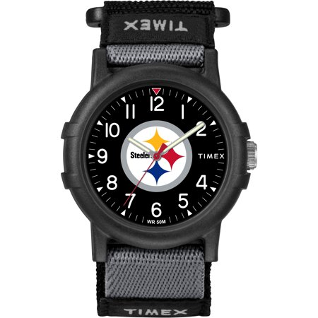 Pittsburgh Steelers Watch - Timex - NFL Tribute Collection Recruite Youth Watch, Pittsburgh Steelers