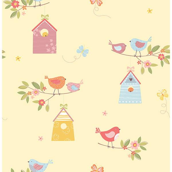 Brewster Birdhouses Honey Birds Wallpaper