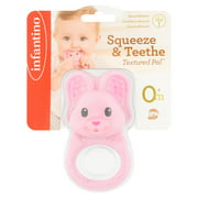 Infantino Textured Pal Squeeze & Teethe Bunny Teether 0+m