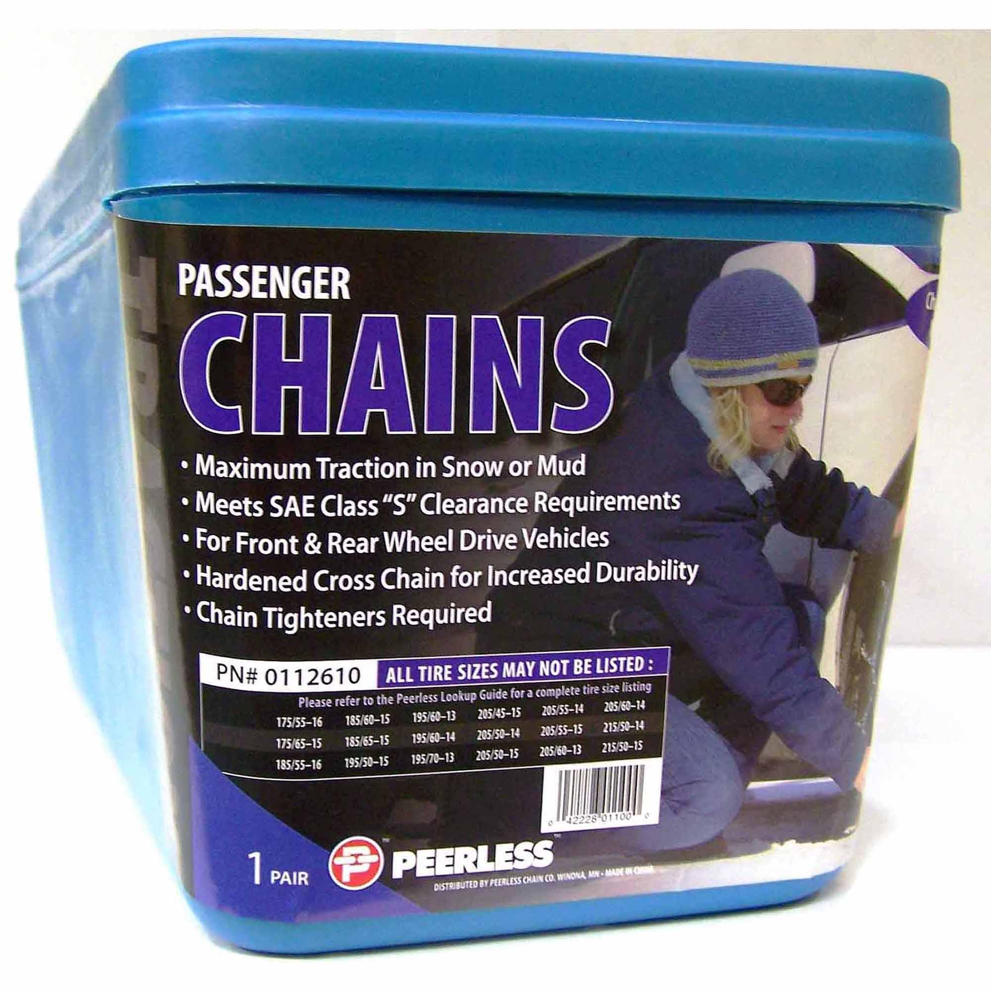 Peerless Chain Passenger Tire Chains, #0112610