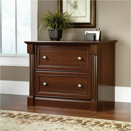 Cherry Vintage Cabinet (Pemberly Row Lateral File Cabinet in Select Cherry )
