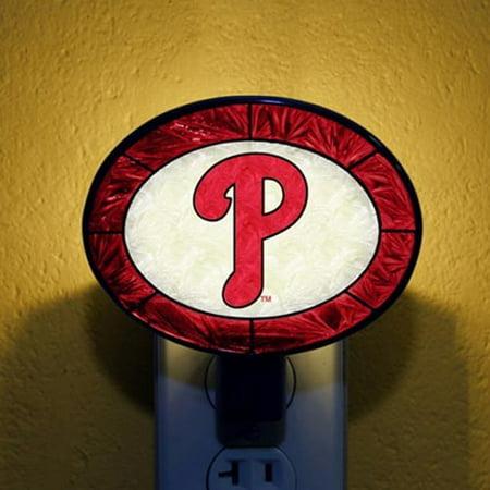 Philadelphia Phillies Art Glass Nightlight - No - Philadelphia Phillies Night Light