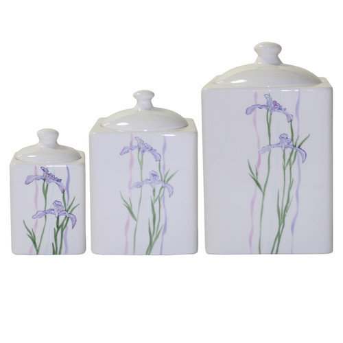 Corelle Coordinates Shadow Iris Canister (Set of 3)