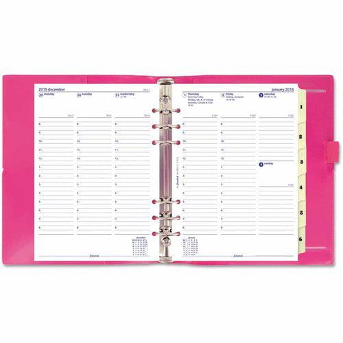 Filofax Domino Patent A5 Organizer, 8 1/4 x 5 3/4, Pink, 2016 -REDC022482
