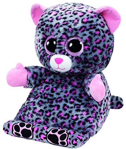 Trixi Leopard Beanie Boo Tablet Holder Stuffed Animal By Ty 60002