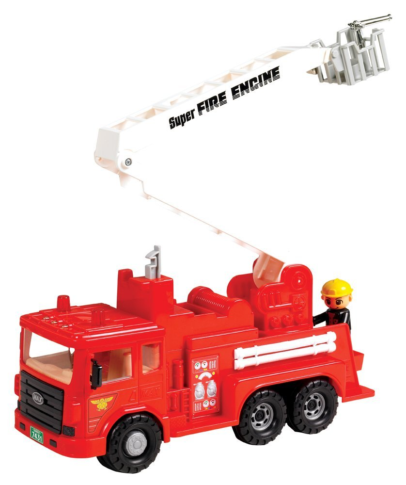 Vehicles Fire Engine Friction Powered, There will be plenty of firefighting action with Small World Toys... by