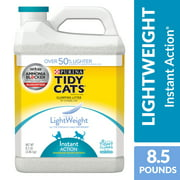 Purina Tidy Cats Light Weight, Low Dust, Clumping Cat Litter, LightWeight Instant Action Multi Cat Litter, 8.5 lb. Jug