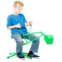 Kid Digger a Toy Backhoe for Sandbox, Beach, Snow, Playground (green)
