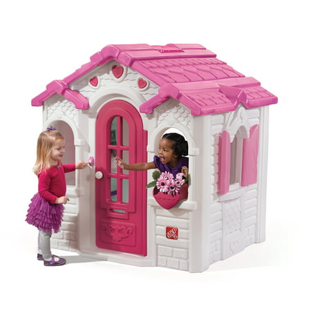 Step2 Sweetheart Pink Playhouse with Kitchen, Decorative Roof and - Playhouse Roof