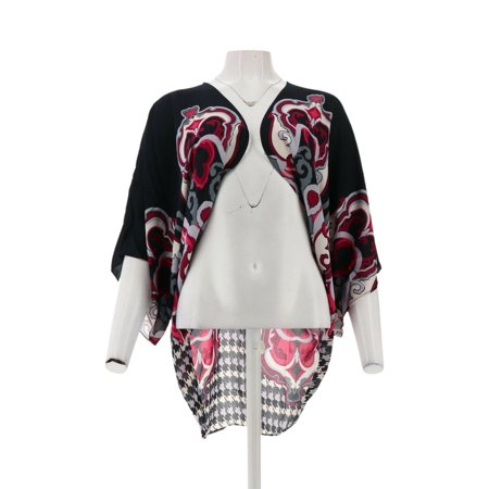 Iman Global Chic Luxury Resort Tie Front Kimono 608 768