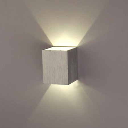 AGPtEK Indoor Energy Saving LED Soft Light Wall Lamp for Hallway Walkway Living Room Bedroom Hall Porch White ()