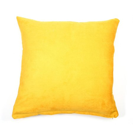 Yosoo Solid Color Cotton Canvas Cushion Cover Home Decor Throw Pillow Case Lounge Yellow Sofa