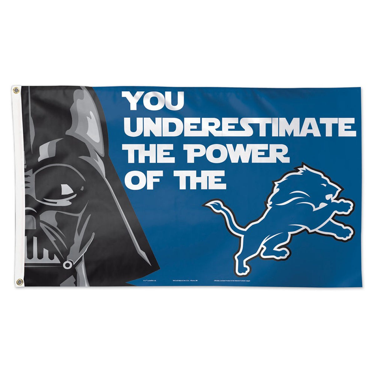 Detroit Lions Official NFL 3' x 5' Star Wars Darth Vader Banner Flag by Wincraft