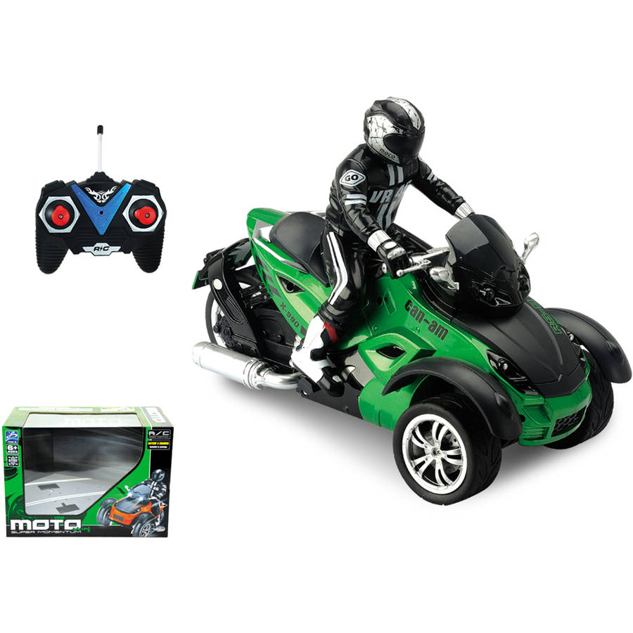 1:10 Remote Control Motorcycle Green