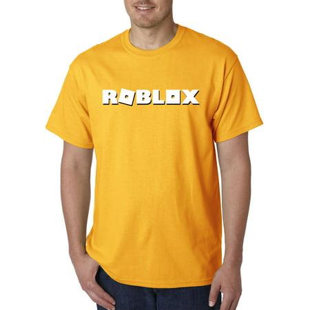 5ac5ea1b0f053 New Way - New Way 923 - Unisex T-Shirt Roblox Logo Game Accent 2XL Gold -  Walmart.com