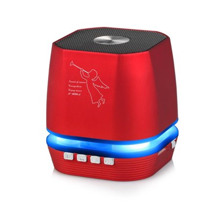 Lighting Wireless Speaker w/ FM Radio for Apple iPhone XR, iPhone Xs/ Xs Plus/ Xs Max/ X, iPhone 8/ 8 Plus/ 7 Plus/ 6S/ 5S (Red)