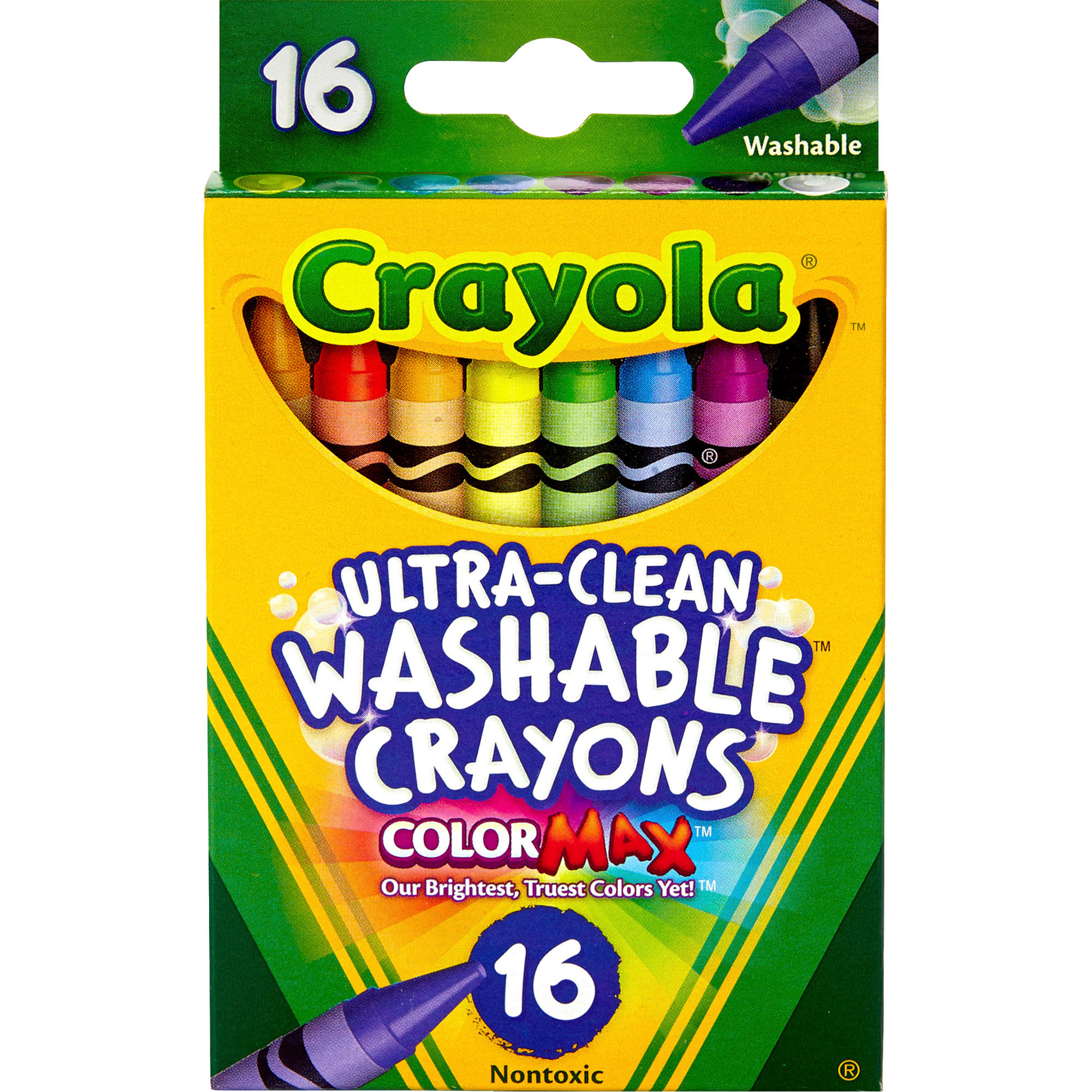 Crayola Ultra Clean Washable Crayons, 16 Count And Colors