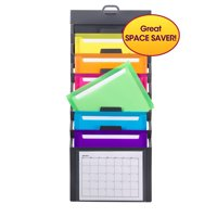 Smead Cascading Wall Organizer, 6 Pockets, Letter Size, Gray/Bright (92060)