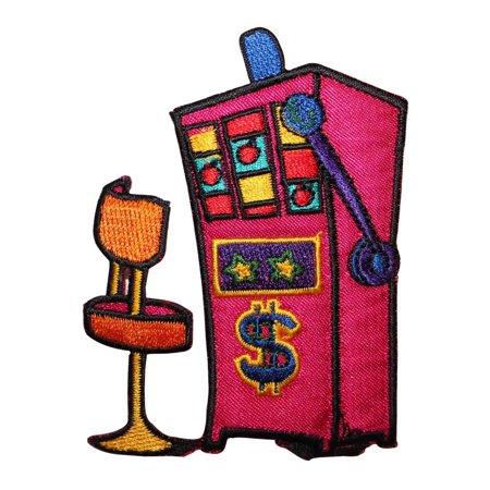 ID 8567 Casino Slot Machine Seat Patch Gamble Vegas Embroidered Iron On Applique Mastering Machine Applique