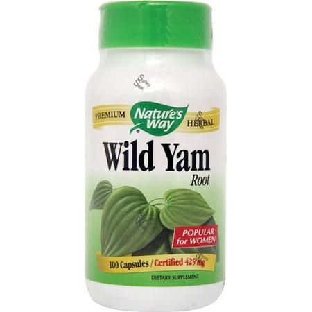 Nature's Way Wild Yam Root 425 mg - 100 Capsules