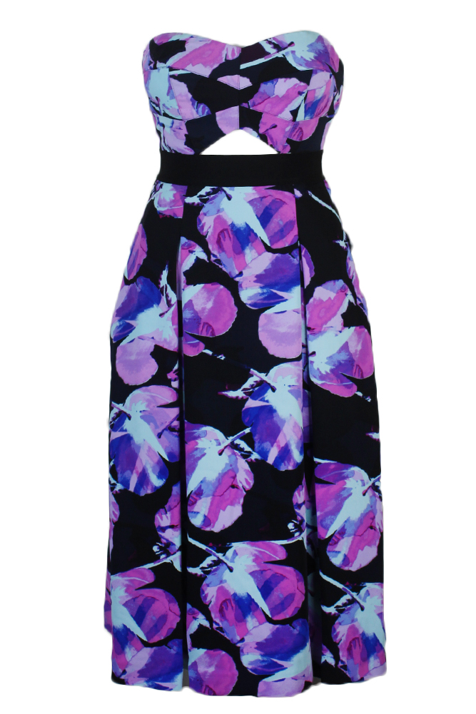 Rachel Roy Women's Strapless Floral-Print Dress