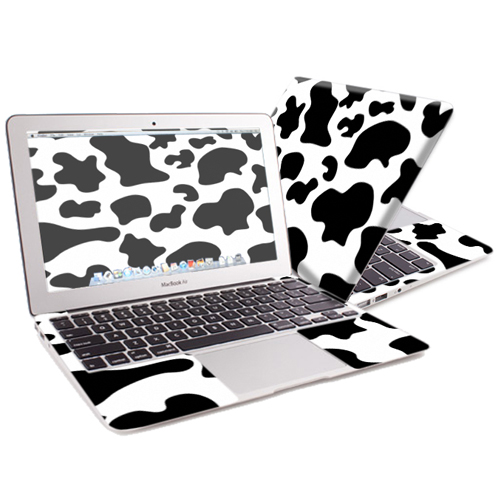 "Mightyskins Protective Skin Decal Cover for Apple MacBook Air 13"" (2010-2017 Model) with 13.3 inch screen wrap sticker skins Cow Print"