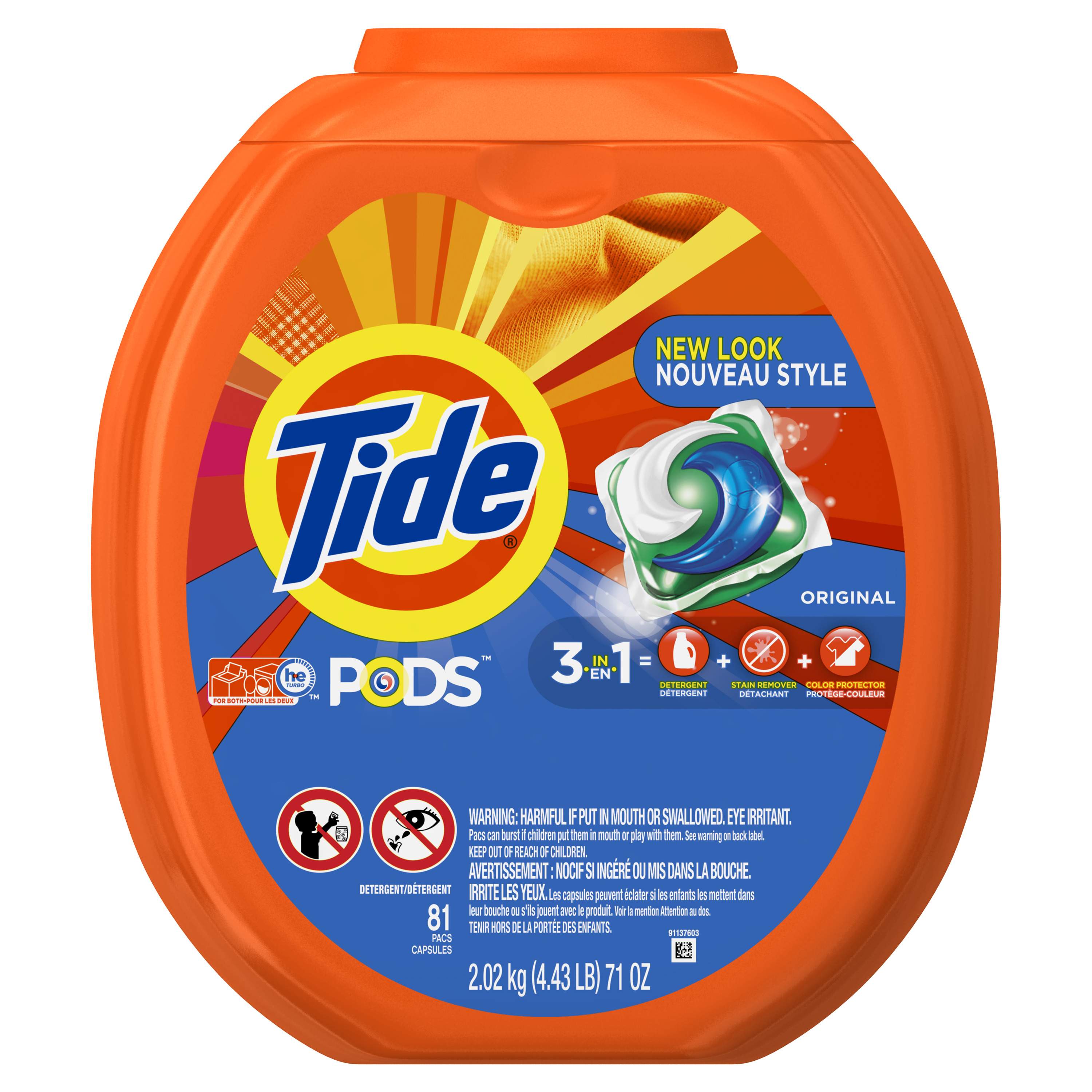 Tide PODS Original Scent HE Turbo Laundry Detergent Pacs, 81 Count