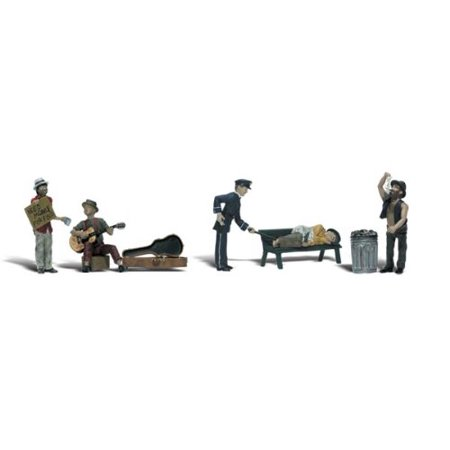 Woodland Scenics HO Scale Scenic Accents Figures/People Set Park Bums -