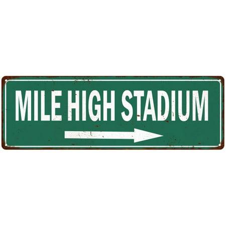 Mile High Stadium Vintage Look Ballpark Baseball Metal Sign 6x18 206180073010](Vintage Baseball Gifts)
