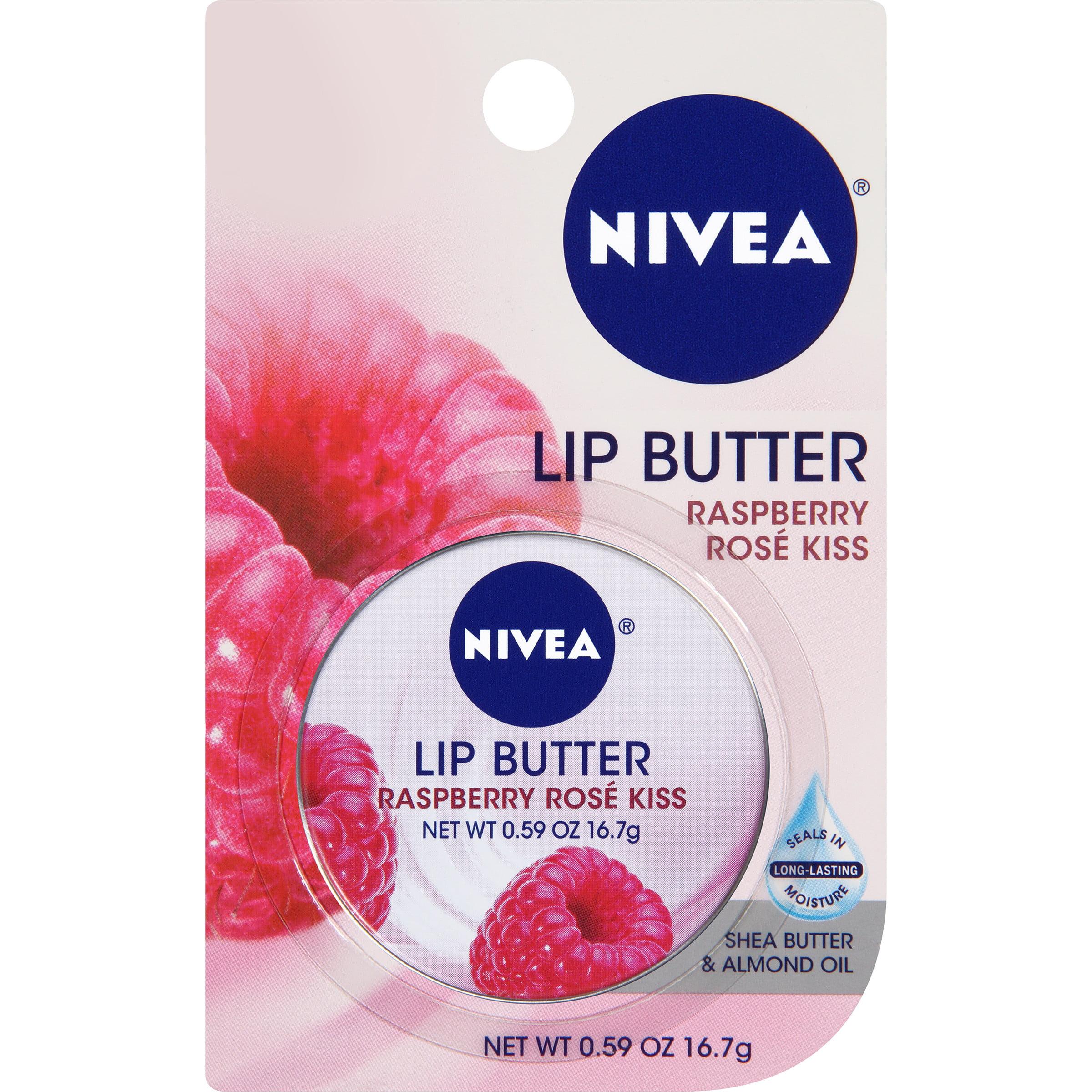 NIVEA Raspberry Rose Lip Butter 0.59 oz. Carded Tin