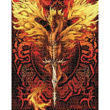 Aquarius Dragon Flame Blade 500 Piece Jigsaw Puzzle - Artist Ruth
