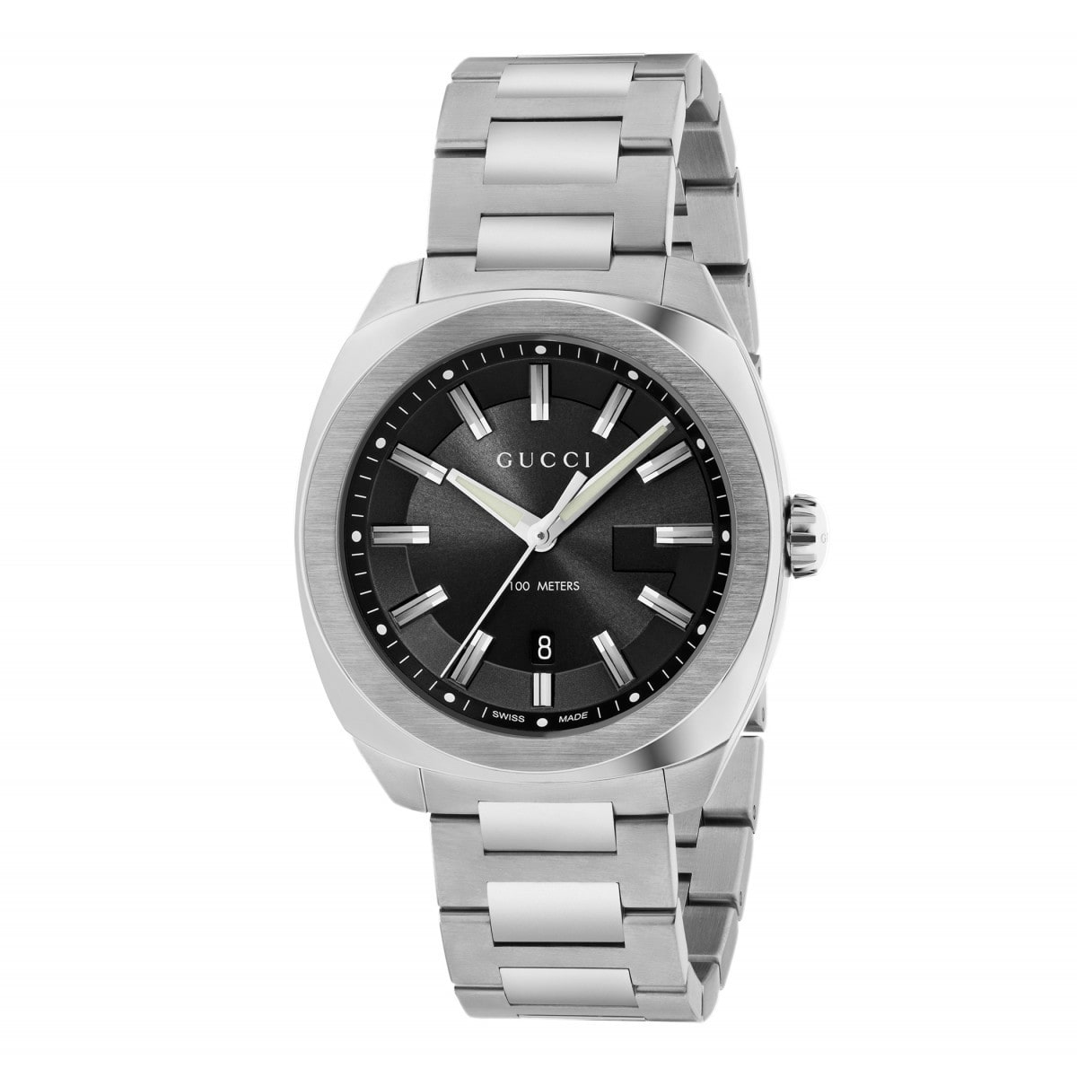 2c775a1a58f Gucci - GG2570 Black Dial Mens Watch YA142301 - Walmart.com