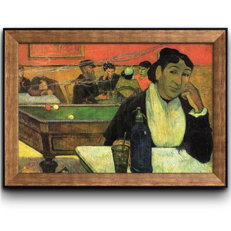 - wall26 - The Night Cafe, Arles by Paul Gauguin - French Post-Impressionist Artist - Framed Art Prints, Home Decor - 24x36 inches
