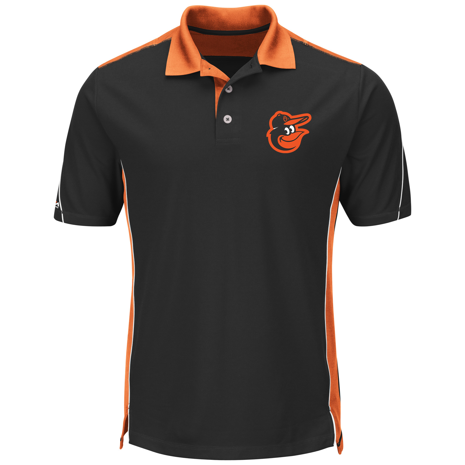 Baltimore Orioles Majestic Big & Tall To The 10th Power Cool Base Polo - Black