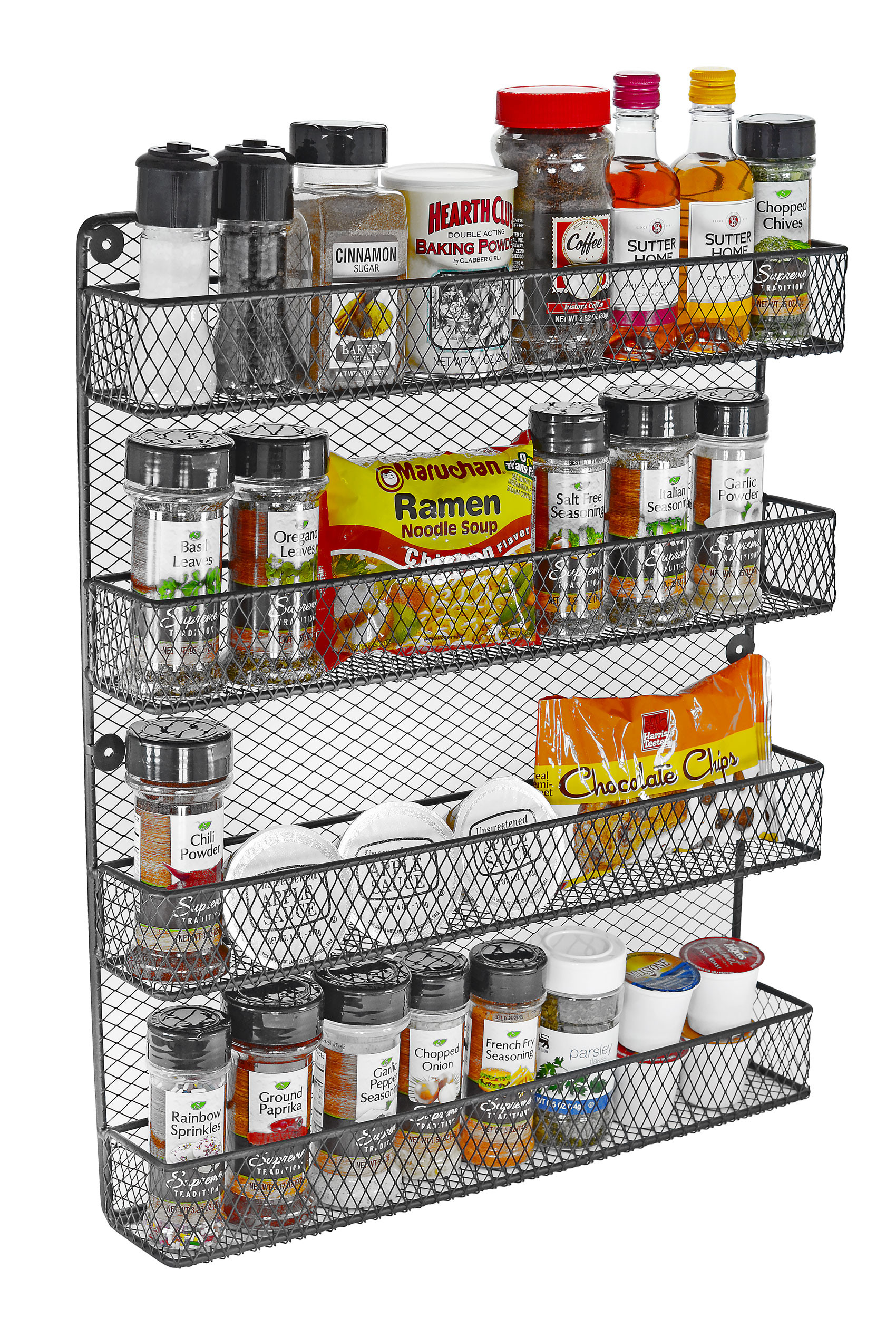 4 Tier Wall Spice Rack by Southern Homewares