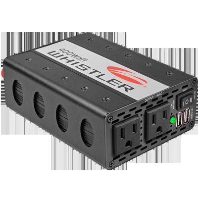 (The Whistler Group XP400i Inverter, 400W, 12V, Plug or Clamps)