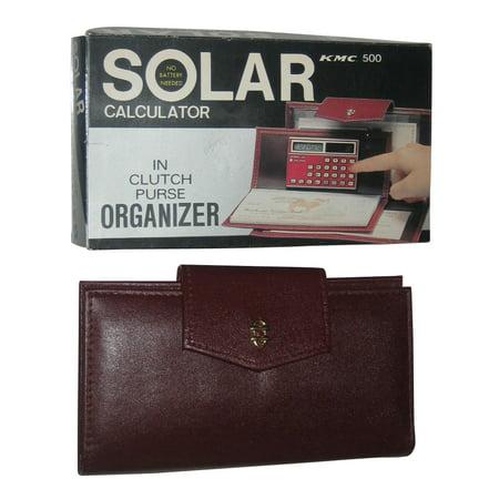 Clutch Purse Organizer w/ Vintage Solar Calculator KMC500 Latico Vintage Clutch