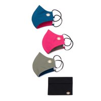 Sofia Jeans by Sofia Vergara Womens Evil Eye Face Mask with Travel Pouch, 3-Pack