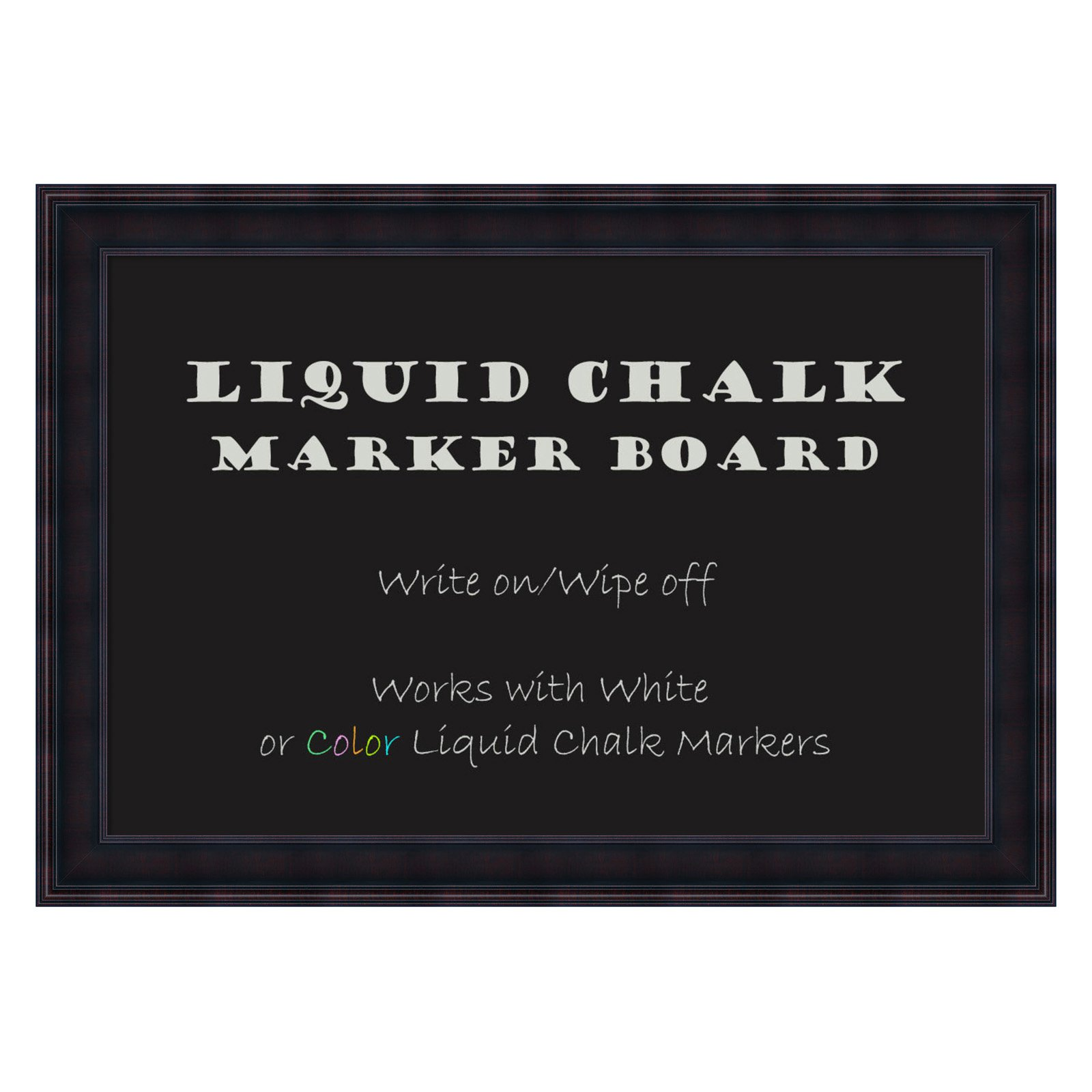 Amanti Art Annatto Framed Liquid Chalk Marker Board