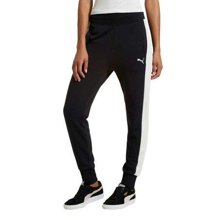 Puma Women's French Terry Fleece Jogger Pants (Puma Cat Terry Pant)