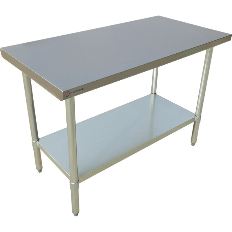 "EQ Kitchen Line Stainless Steel Restaurant Kitchen Prepare Work Surface Table 30""Lx30""Wx34""H"