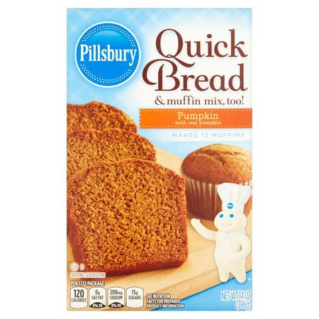 Pillsbury Pumpkin Quick Bread   Muffin Mix  14 Oz