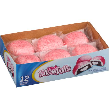 Snacks Pink Snowballs, 2 1 oz, 12 count