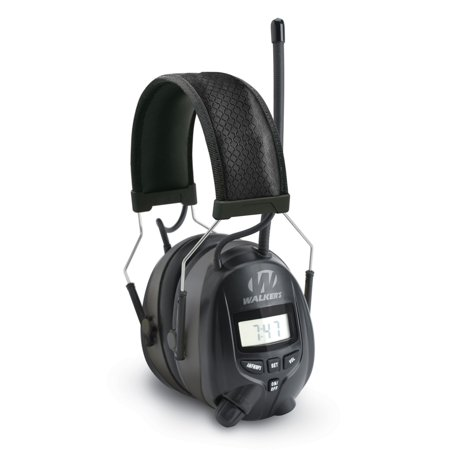 Walkers Hearing Protection Over Ear AM/FM Radio Earmuffs with Display |
