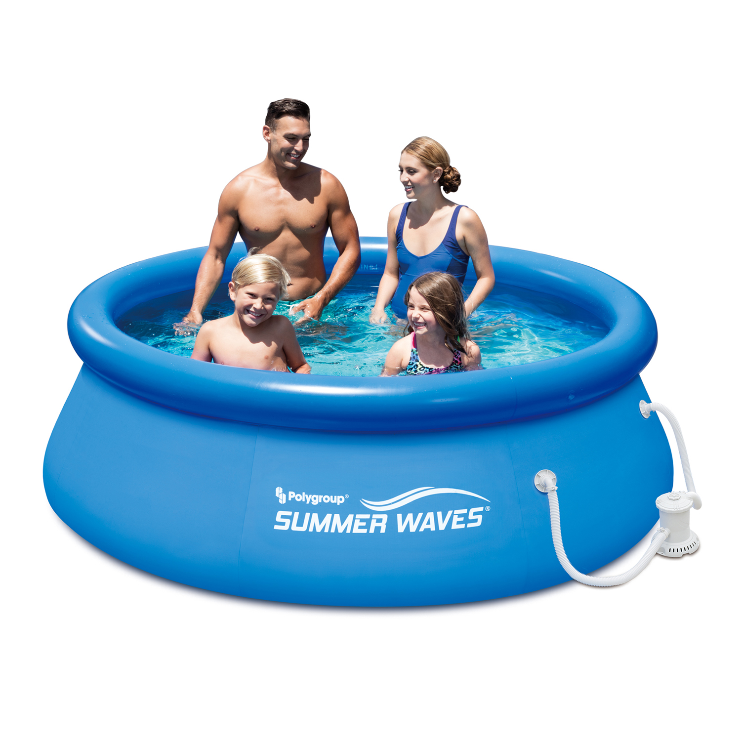 "Summer Waves 8' x 30"" Quick Set Above Ground Swimming Pool with Filter Pump System"