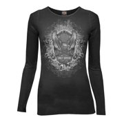 Women's Long Sleeve Shirt, Storm Eagle Bar & Shield, Black