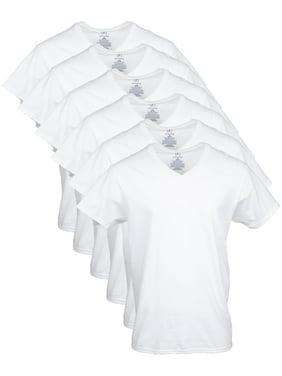 George Men's V-Neck T-shirts, 6-Pack