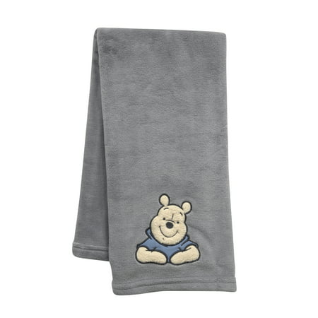 Disney Baby Forever Pooh Gray Bear Baby Blanket by Lambs & -